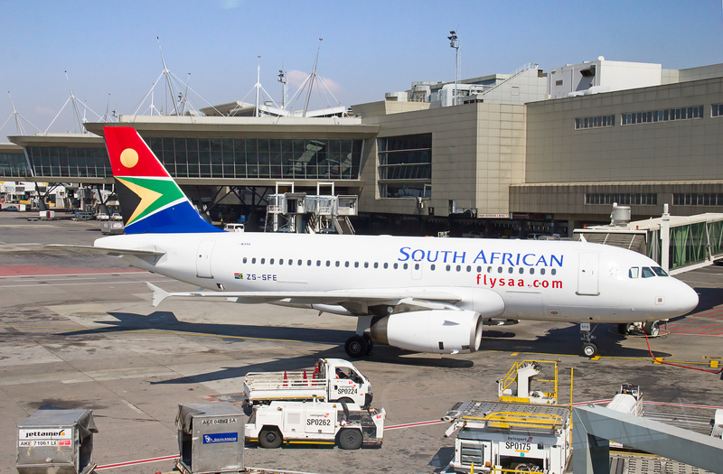 Johannesburg Airport is a hub for Airlink, Comair, FlySafair and South African Airways.